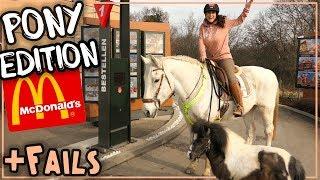 Mit Pferd + Pony zu Mc Donalds! + Fails