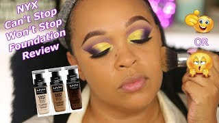 *NEW* NYX Can't Stop Won't Stop 24HR Foundation Review | Marlo Keenan