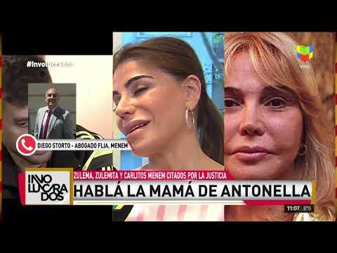 La madre de Antonella Menem inicia juicio contra Zulema