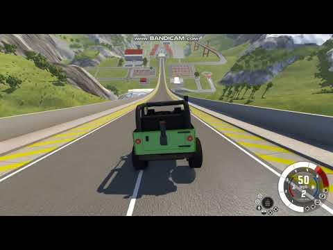 BeamNG Drive niszczenie aut na 2 mapach