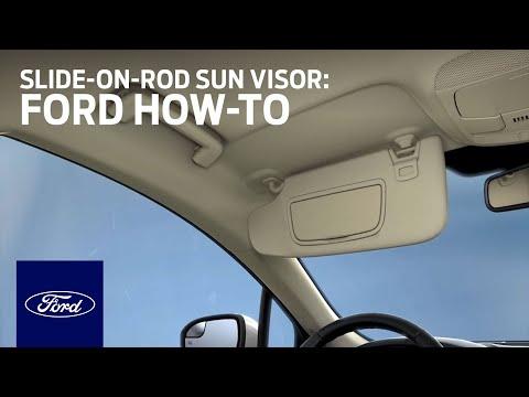 Slide-On-Rod Sun Visor | Ford How-To | Ford