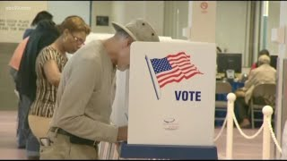 Super Tuesday in California: Long voting lines