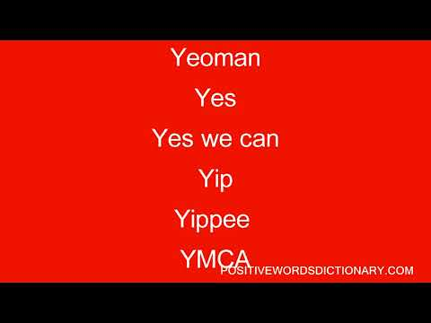 Positive words That Start With y | Positive words starting with y