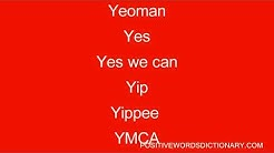 Positive words That Start With y   Positive words starting with y