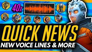 Overwatch | 40+ NEW VOICE LINES & Soldier 76 ON THE RISE! - [Quick News]