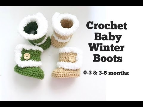 Tutorial How to Crochet Baby Ugg Boots