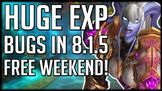 HUGE EXPERIENCE BUG Allows Super Fast Leveling - WoW Free to Play Weekend thumbnail