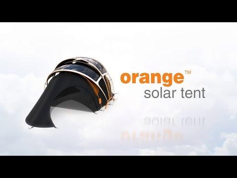 Orange Solar Tent - Product Design Concept