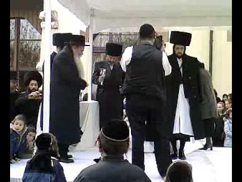 Shloime Gertner at a Chuppah in Zurich