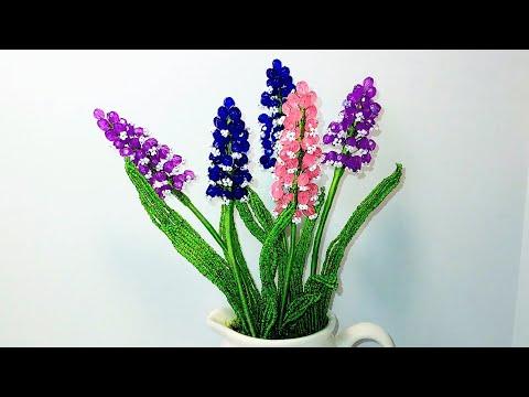 Мускари (Мышиный гиацинт) из бисера и бусин Мк от Koshka2015 - цветы из бисера, бисероплетение, МК