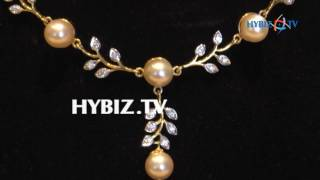 Diamond with south sea pearl light weight necklace   Sri Jagadamba Pearls And  jewellers   hybiz