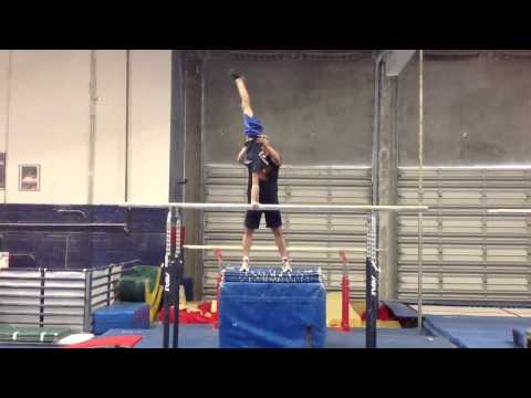Drill For Giant To Handstand On Parallel Bars