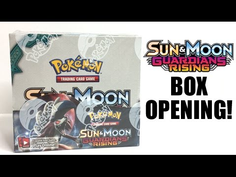 POKEMON GUARDIANS RISING BOOSTER BOX OPENING! - SUN AND MOON POKEMON CARDS!