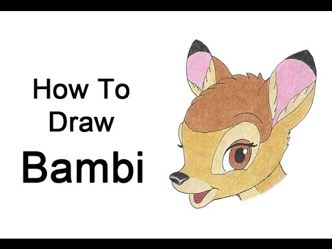 how to draw bambi step by step easy
