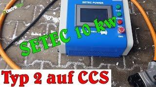 Mobiler 10kW DC Lader von SETEC - Typ 2 auf CCS