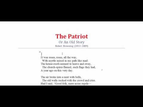 The Patriot | Patriot by Robert Browning | An Old Story | Poetry, Poem,  Literature, Kobita,