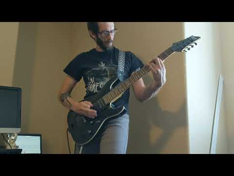 nemo by nightwish guitar playthrough (transposed to seven string)