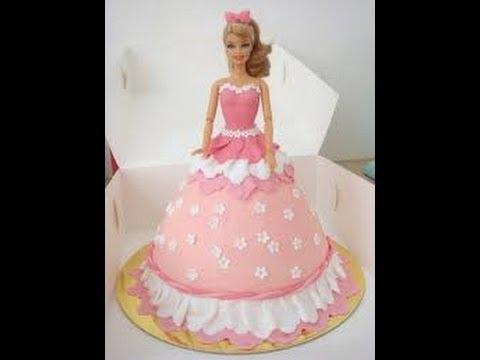 Cake Decorating Barbie Cake Recipes : Barbie Doll Cake How to decorate a Barbie Doll/Princess ...