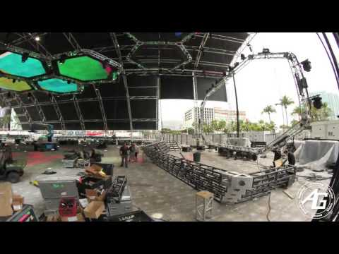 AG Lights & Sound - Mega Structure - Ultra Music Festival 2013 - Time-Lapse