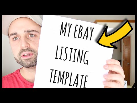 TWO Ebay Clothing Templates | How To Organize Clothing Inventory | Listing Advice