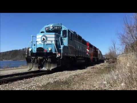 "Chasing Rare CMQ Train ""904"" from Richford to Newport, VT!!!"