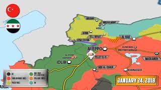 Новости Сирии сегодня, 27 01 2018, карта боевых действий Сирии на 27 января Военная обстановка Сирии