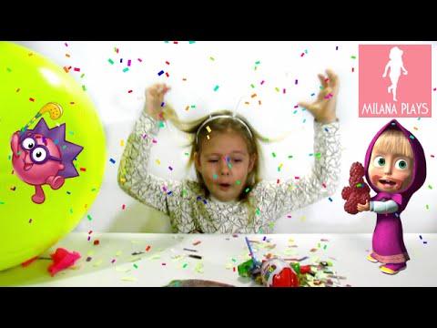 ♥ Лопаем Большие Шарики С Сюрпризами Миньоны Смешарики Пчелка Майя Burst Huge Balls With a Surpriseиз YouTube · Длительность: 11 мин8 с