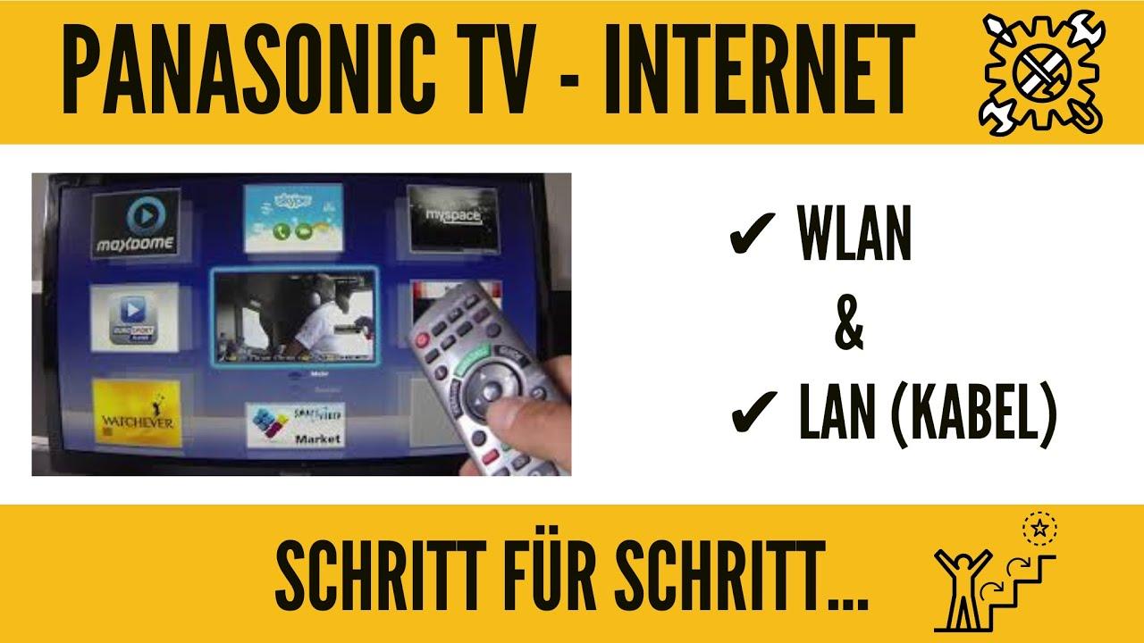 panasonic tv internet einrichtung wlan f hig machen ganz einfach youtube. Black Bedroom Furniture Sets. Home Design Ideas