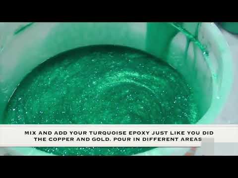 How to make Amazing Metallic Epoxy Floor