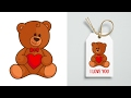 Vector Teddy Bear Video Process