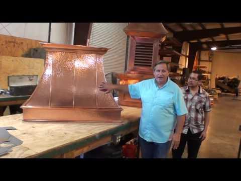 Custom Vent Hoods in Copper Stainless Steel or Zinc