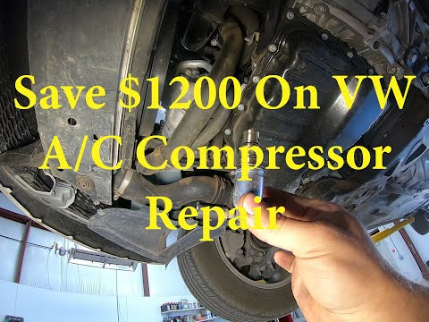How to save $1200 dollars on your Volkswagen AC Repair. VW A/C Hack!!!!