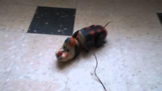 jouet ancien filoguidé le chien ambulant.