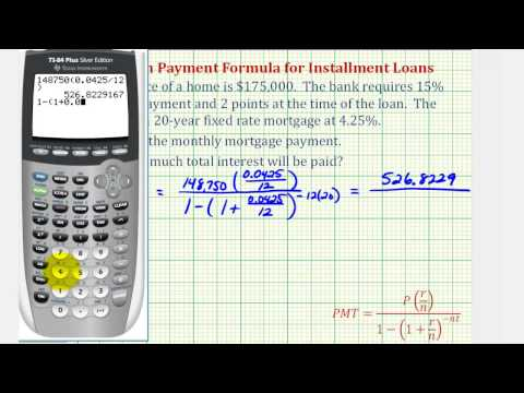 Ex 2: Find a Monthly Mortgage Payment with a Down Payment and Points