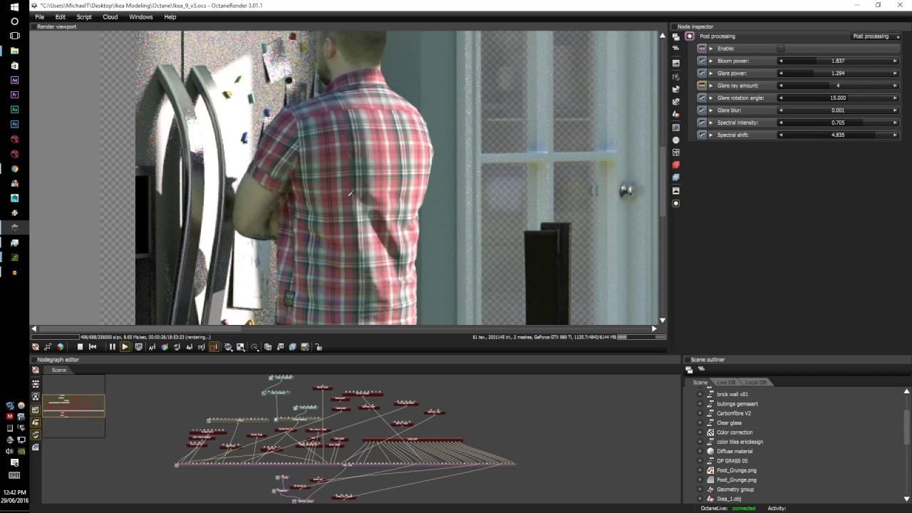 Octane render tutorial series v3: animated and proxy volumetrics.