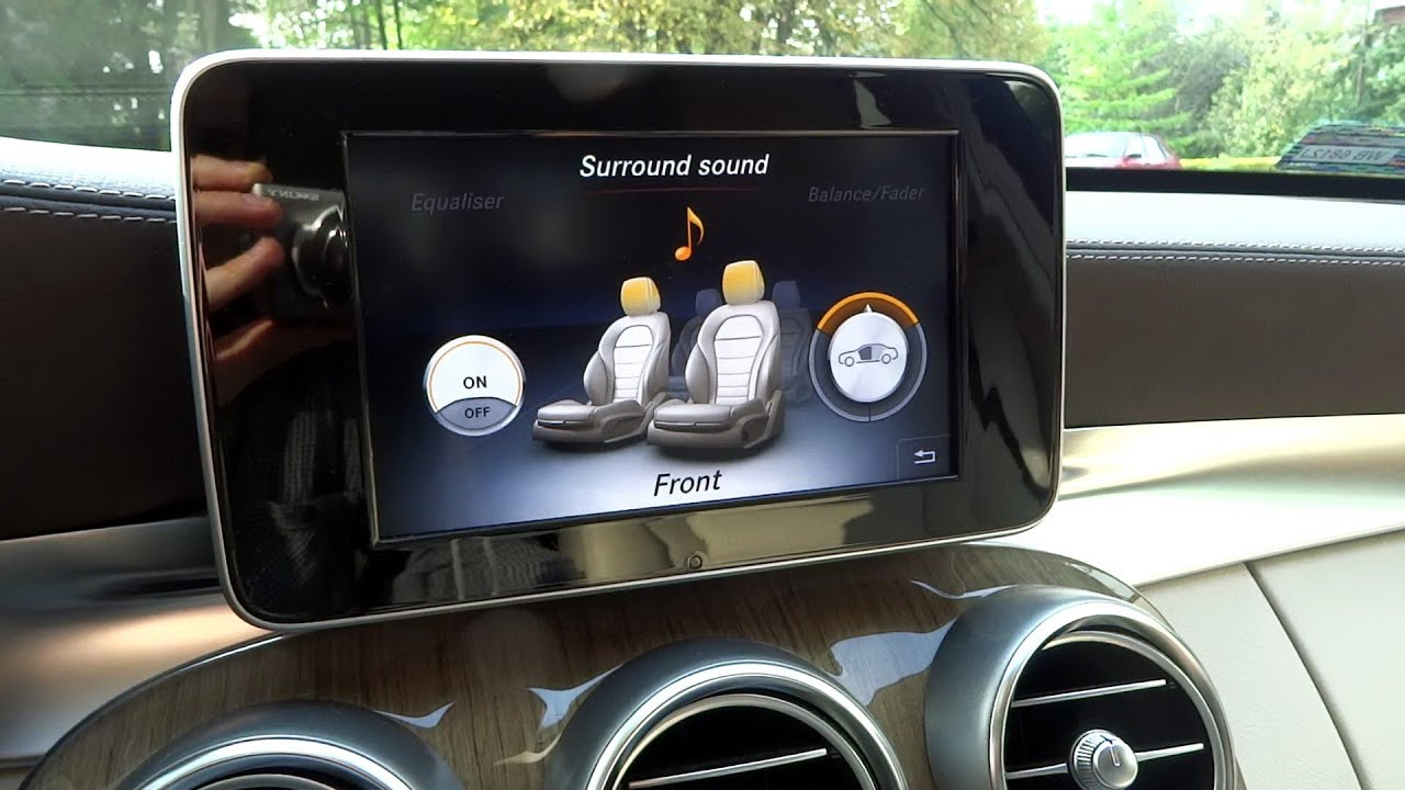 Mercedes c class w205 burmester sound system demo noise for Mercedes benz c300 sound system