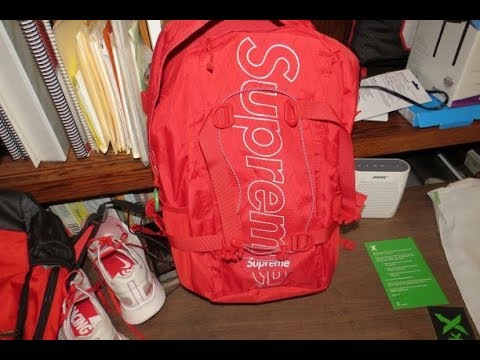 Supreme Backpack Fw18 Red Unboxing Review