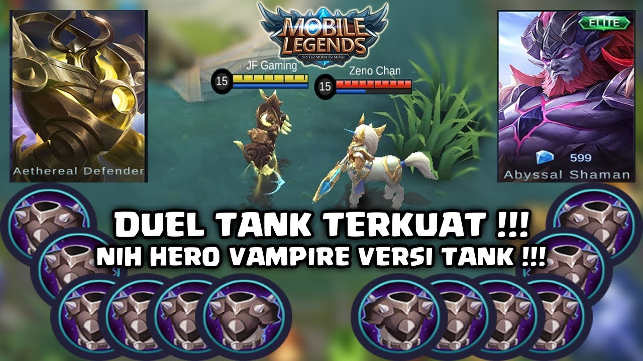 URANUS Vs HYLOS FULL BLADE ARMOR Gila Nih Hero Vampire Versi Tank Mobile Legends Indonesia