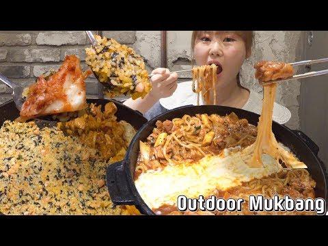 까니짱 야외먹방|고수닭갈비 기흥역 AK점에서 닭갈비에 치즈, 우동사리 추가했어요!!
