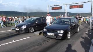 Drag Racing CAMPIA TURZII GOLF 4 1.9D vs GOLF 5 1.9D
