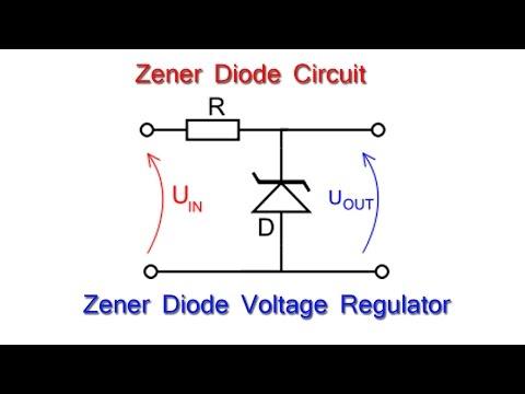 zener diode: - zener diode as voltage regulator in electric circuit -  youtube