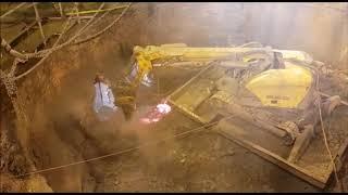 Brokk Machine in Action: Demolition of a Hot Furnace