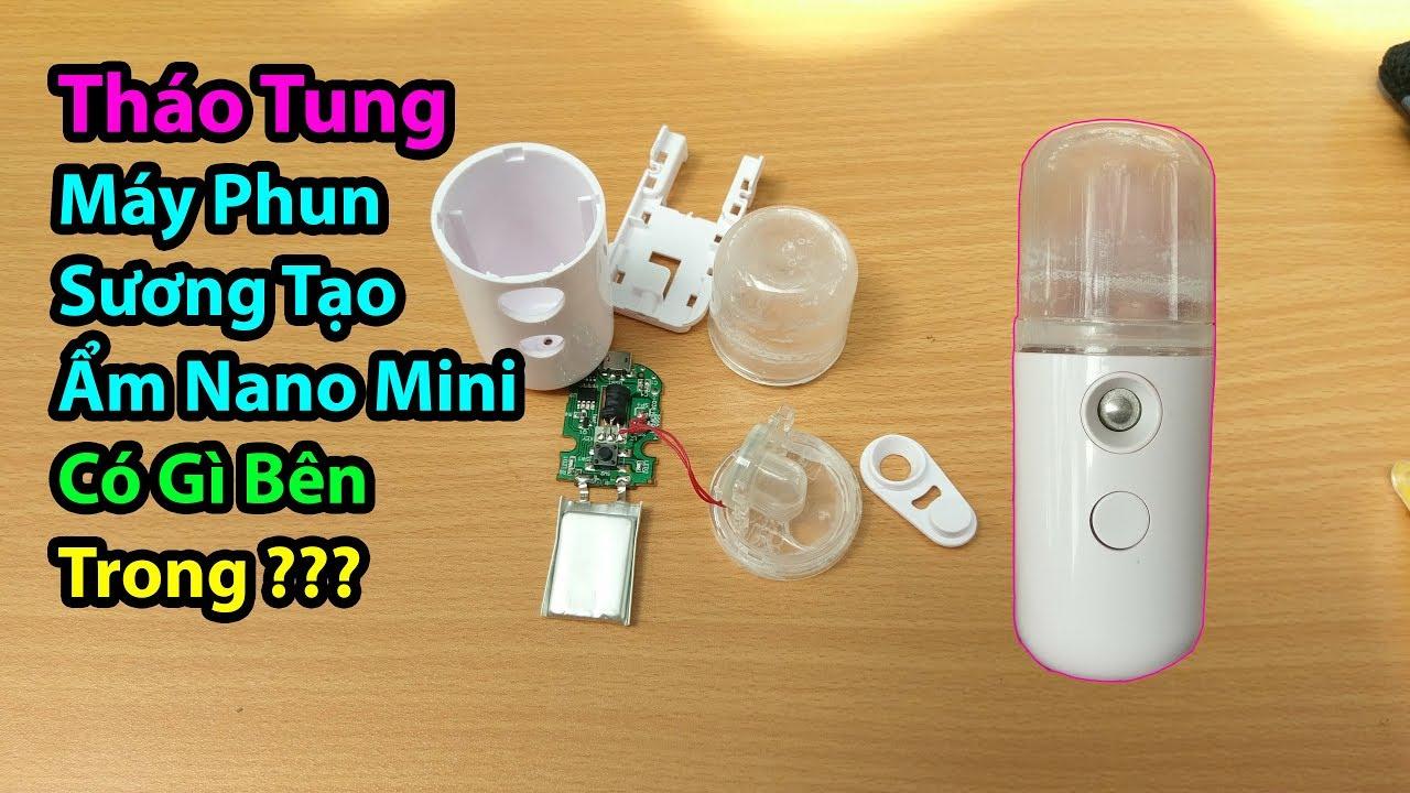 Mổ Bụng Máy Phun Sương Tạo Ẩm Nano Mini, xem bên trong có gì ?