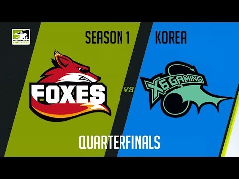 Foxes vs X6-Gaming (Part 1) | OWC 2018 Season 1: Korea [Quarterfinals]