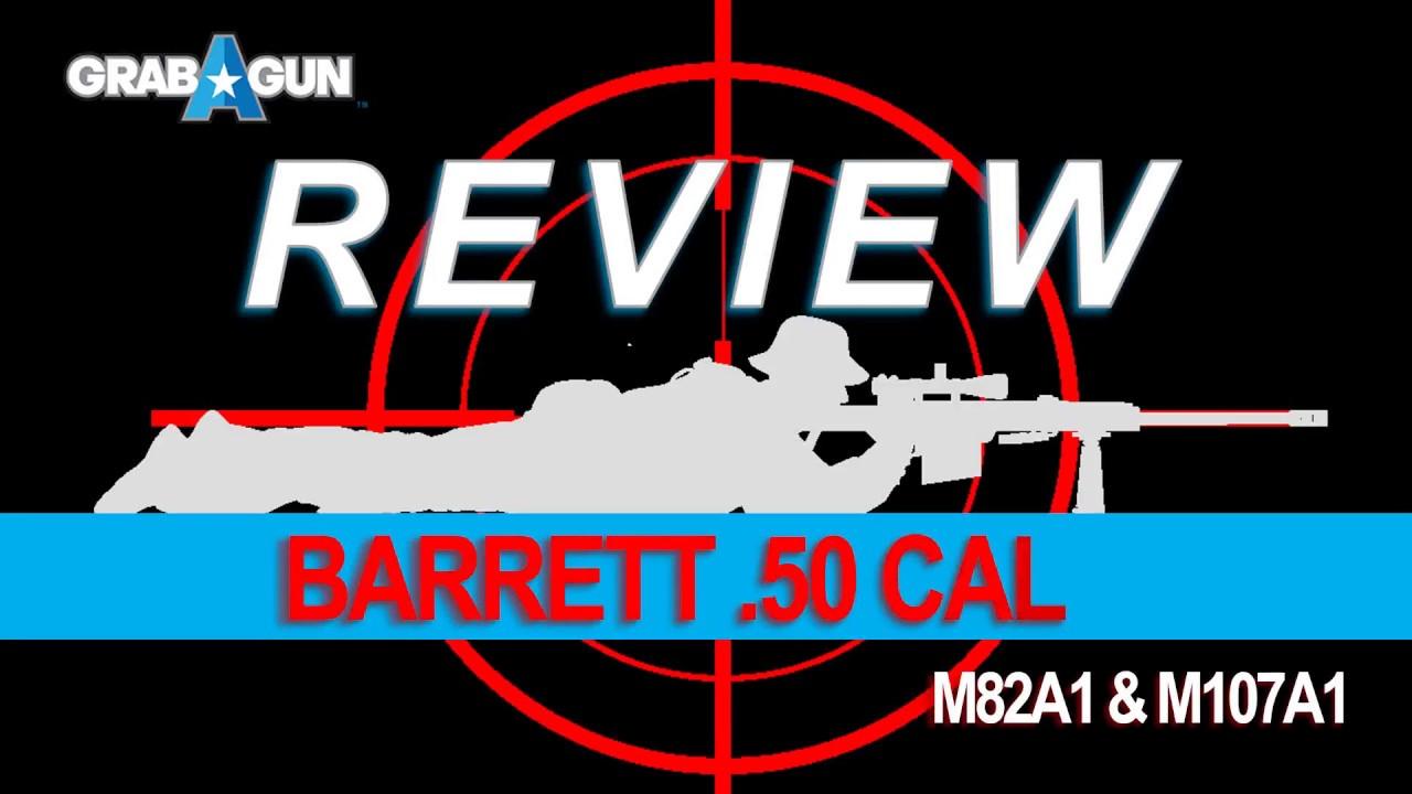Barrett Model 82A1 Black  50 BMG 20-inch 10Rds