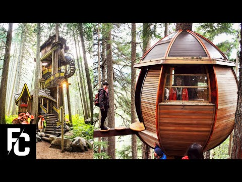 6 INSANE Treehouses You wont Believe Exist | ListKing Treehouse Masters
