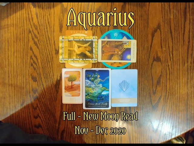 AQUARIUS: FULL - NEW MOON 7 CARD DRAW= SELF ACCEPTANCE + GRACE + EXPRESSING FREE WILL + NOV-DEC 2020