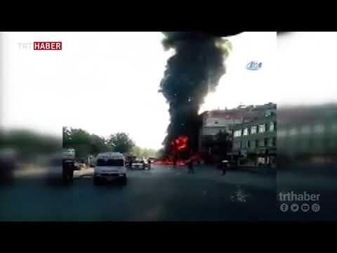 Kayseri'de seyir halindeyken alev alan otomobil küle döndü