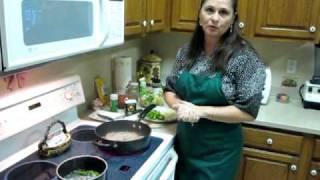 Skillet Steak Stew Over Yellow Rice