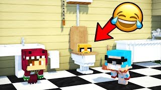 ¡ME ESCONDO DENTRO DE UN RETRETE! 😂💩 ¿ME ENCONTRARÁN? | MINECRAFT EL ESCONDITE #28